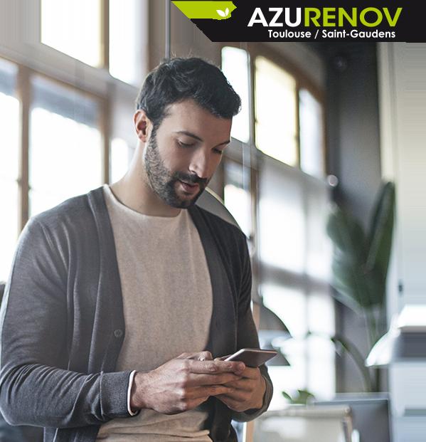 Azurenov - Contact - Visuel intro avec logo