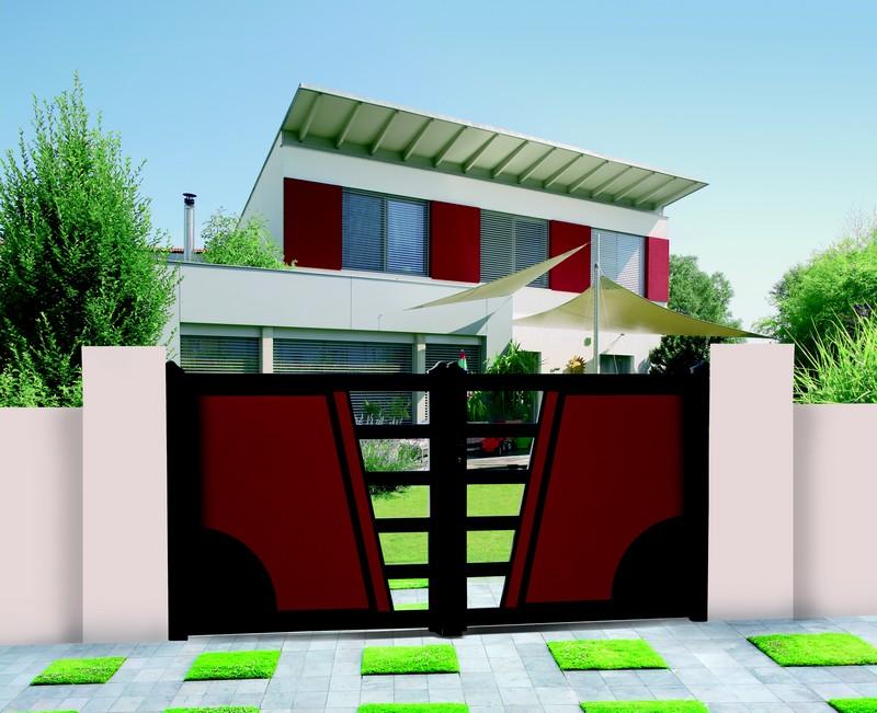 Azurenov - Produits - Portails - Haus mit Garten